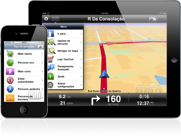 TomTom no iPhone e no iPad
