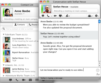 Microsoft Lync for Mac