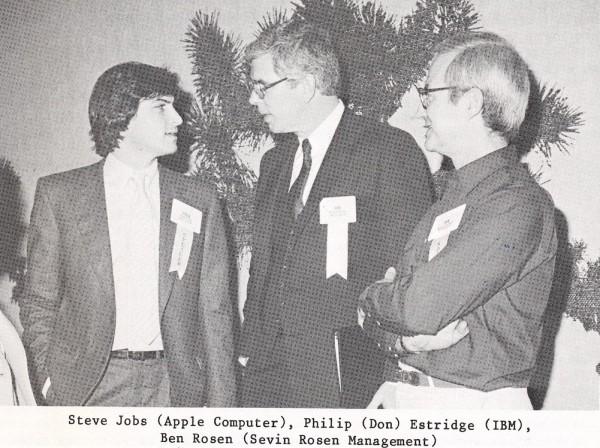 Steve Jobs, Philip Estridge e Ben Rosen