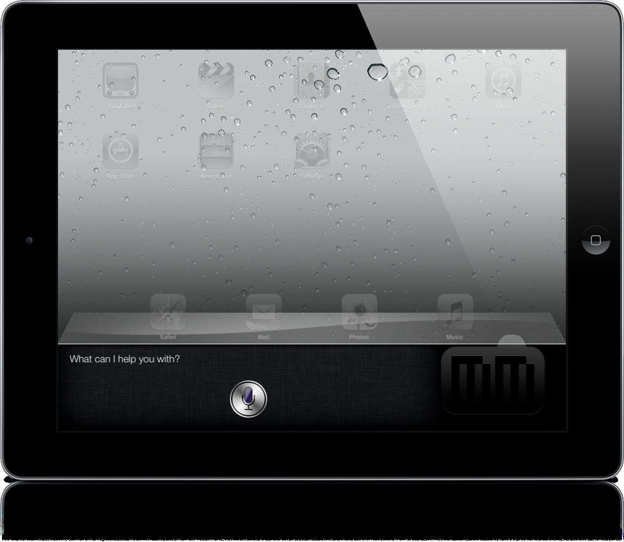 Siri em iPad