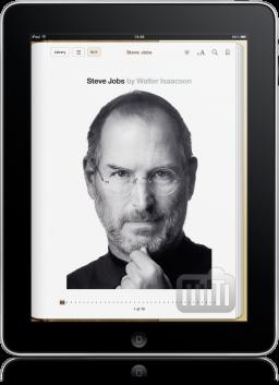 Biografia de Steve Jobs no iPad