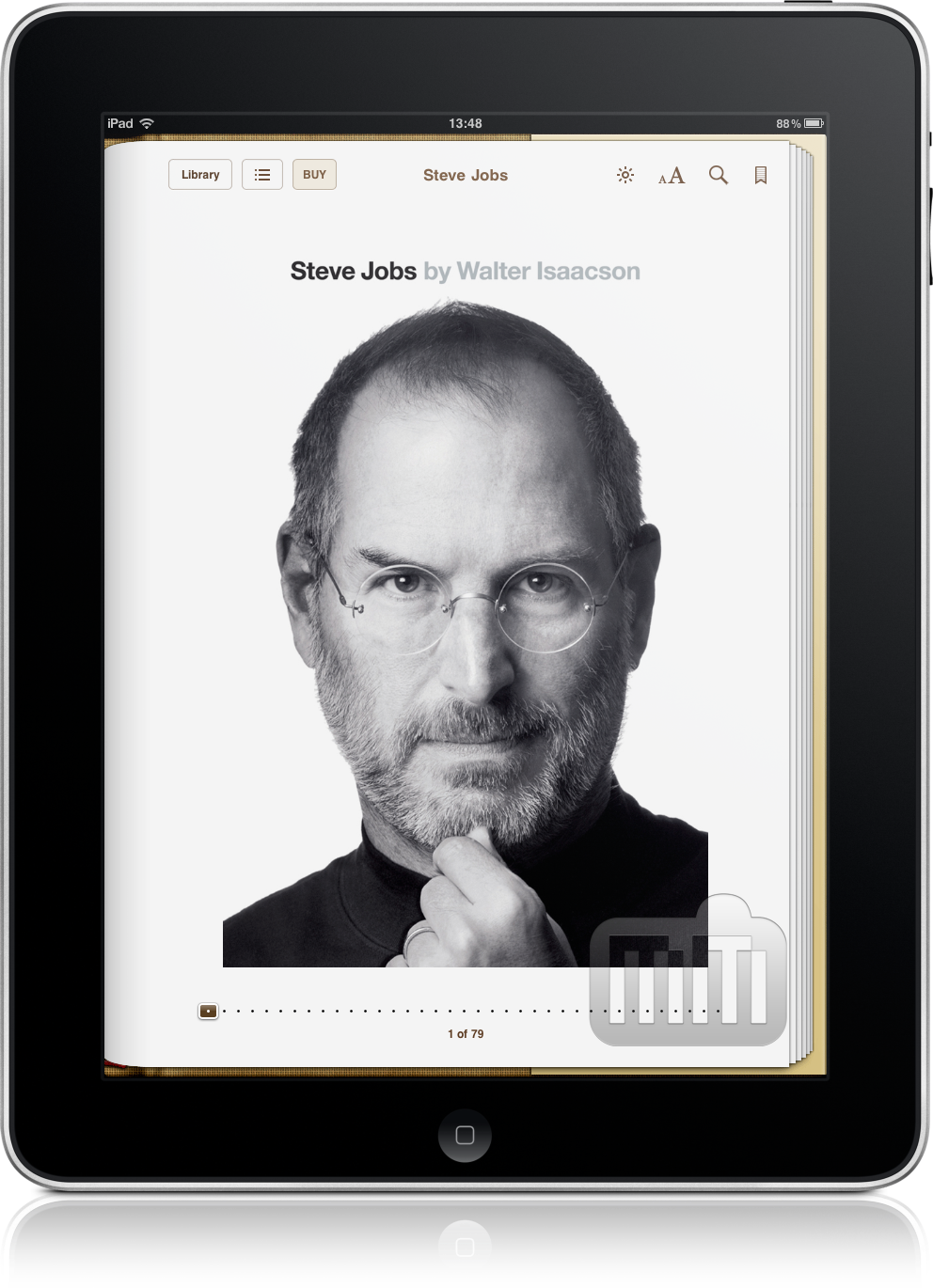 Biografia de Steve Jobs no iPad