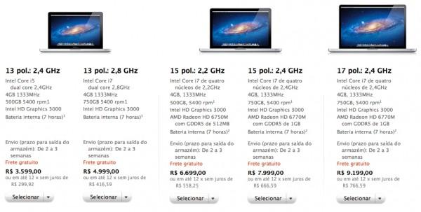 Novos MacBooks Pro