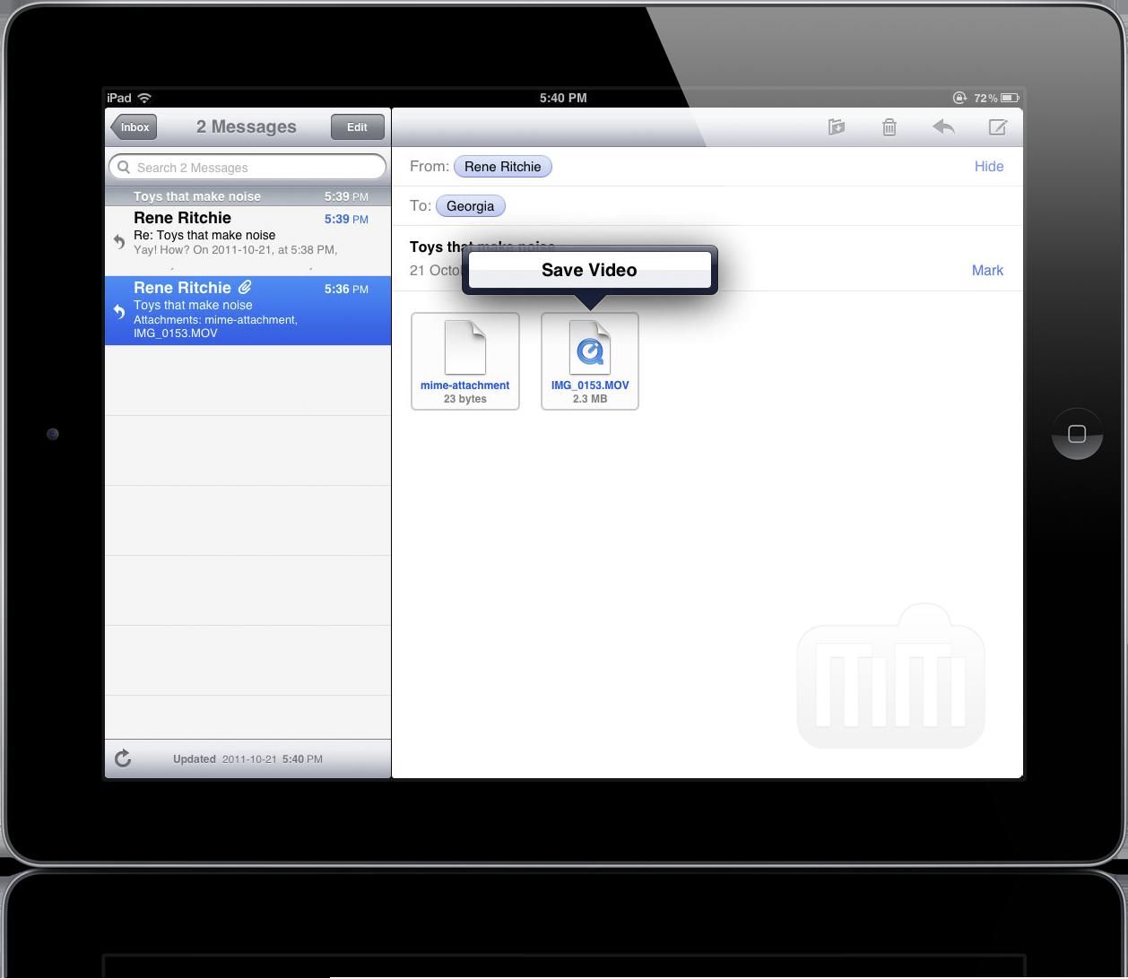 Salvando vídeos no iOS 5