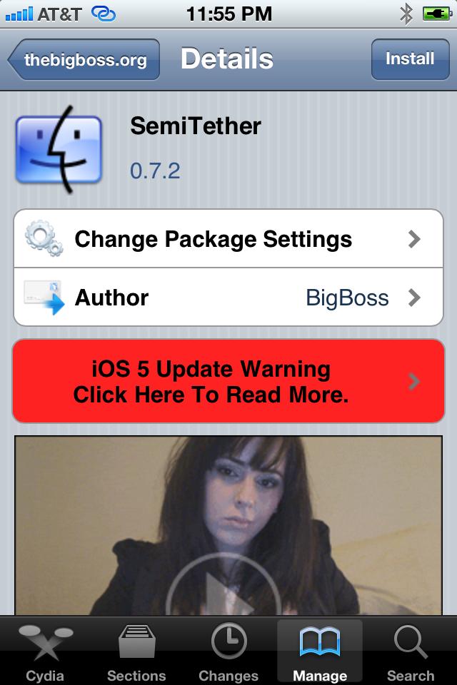 SemiTether para o iOS 5