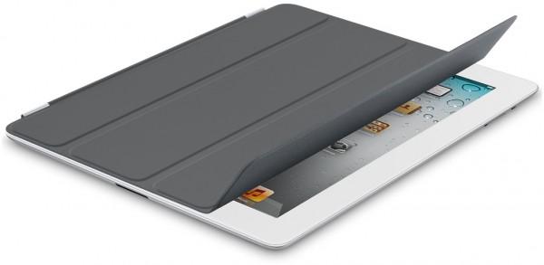 Nova Smart Cover cinza-escura em iPad 2 branco