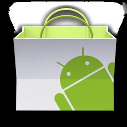 Ícone de sacola do Android Market