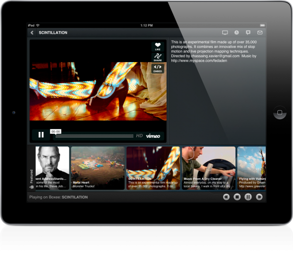 Boxee 1.2 no iPad