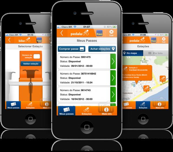 App do Bike Rio em iPhones