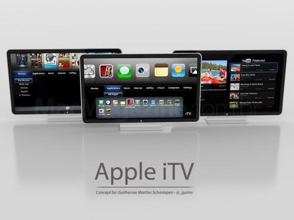 Mockup de uma iTV - Apple TV