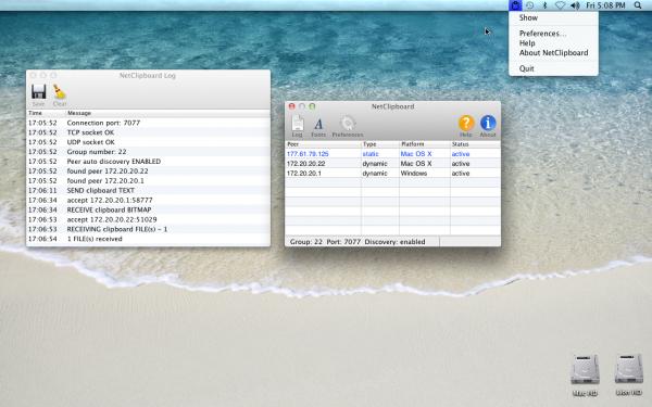 NetClipboard - Mac OS X