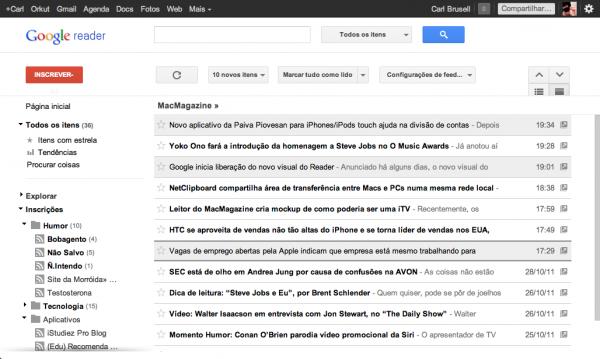 Novo Google Reader
