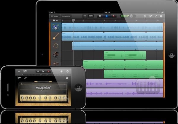 GarageBand 1.1 no iPad e no iPhone