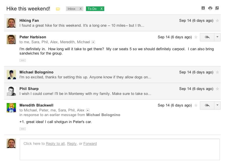 Novo visual do Gmail
