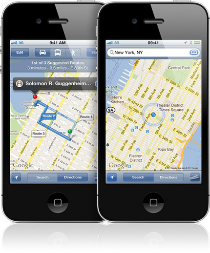 Google Maps no iPhone 4S