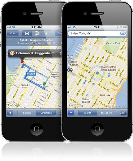 Google Maps no iPhone 4S