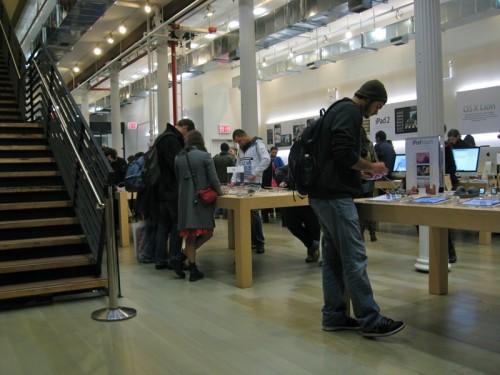 Apple Store temporária, no SoHo