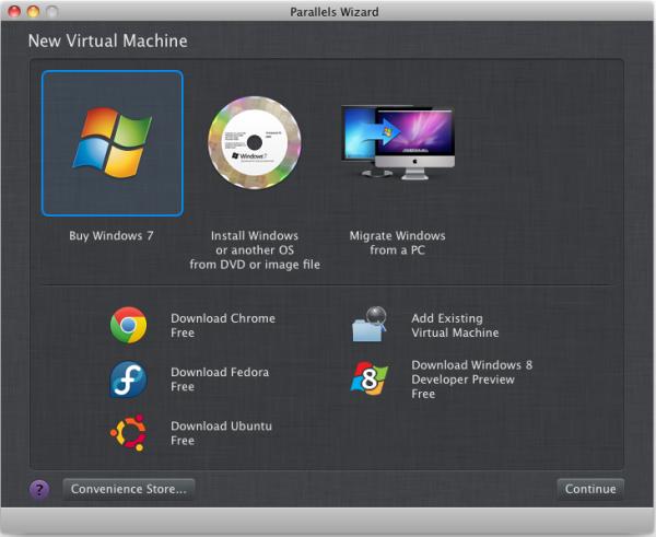 Instalando o Windows 8 no Parallels