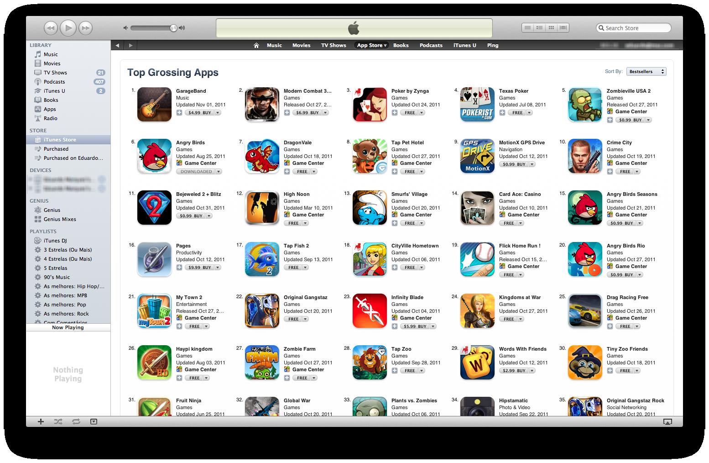 Ranking com os apps mais rentáveis da App Store