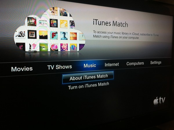 Apple TV com o iTunes Match
