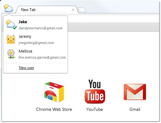 Sincronização do Google Chrome 16