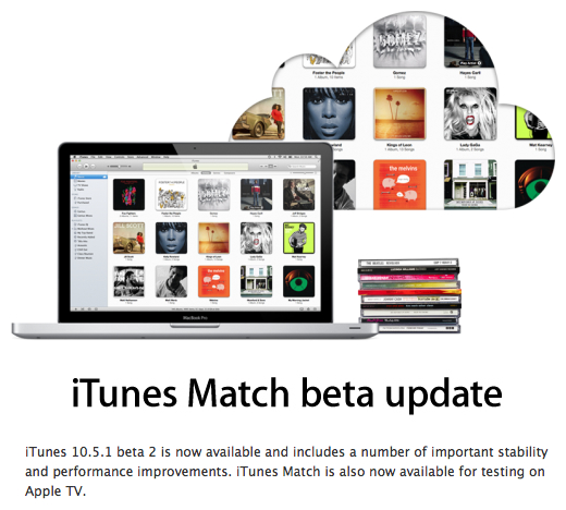 iTunes Match no Apple TV
