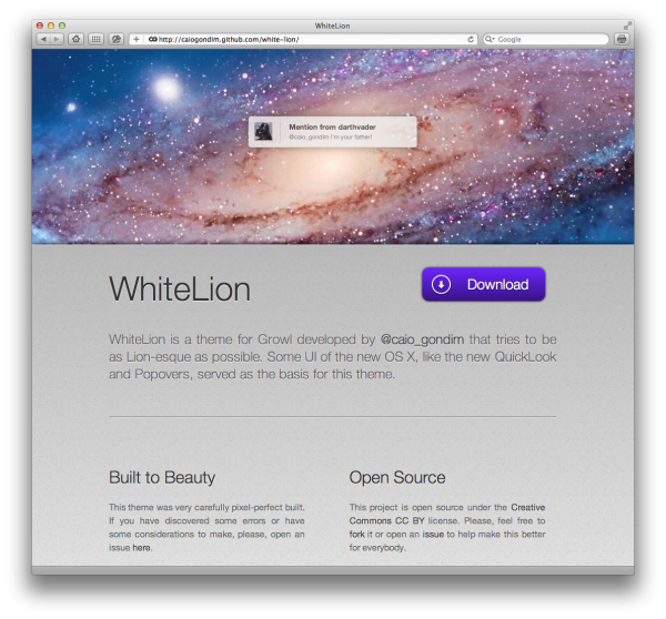 WhiteLion para Growl