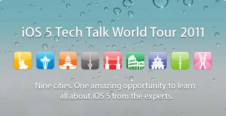 Banner do iOS 5 Tech Talk World Tour 2011