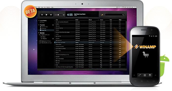 Winamp para Mac com Android