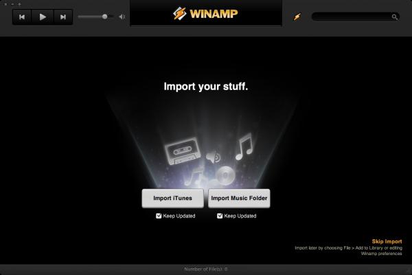 Importando músicas para o Winamp no Mac