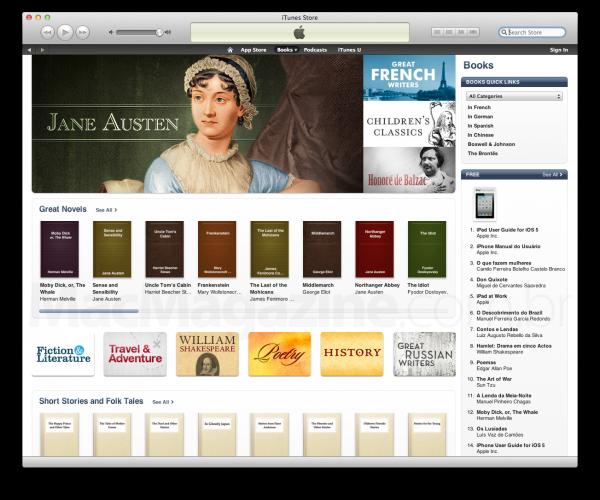 Books na iTunes Store brasileira