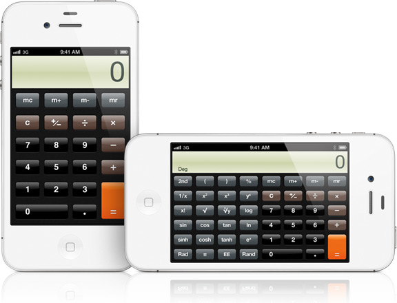Calculadora no iPhone 4S