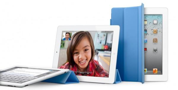 Vários iPads com a Smart Cover azul (nova)