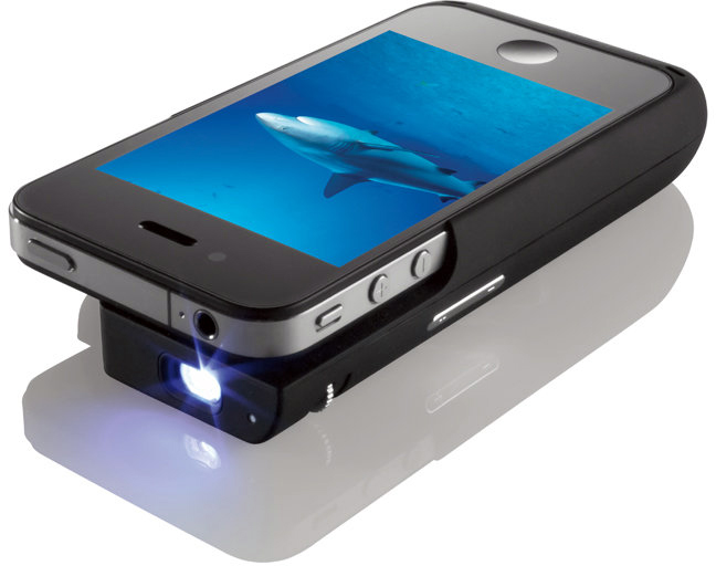 Brookstone - Pocket Projector for iPhone 4
