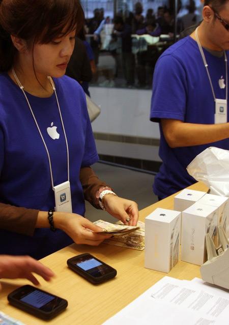 Venda do iPhone 4S em Hong Kong