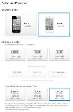 Compra de iPhone 4S desbloqueado
