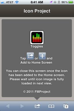 Atalhos de ajustes na Home Screen