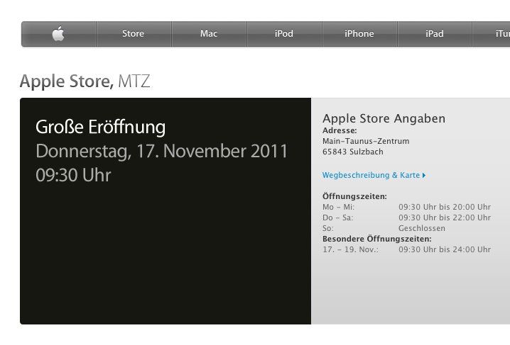 Nova Apple Store da Alemanha