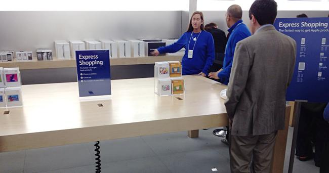 Express Shopping em Apple Retail Store