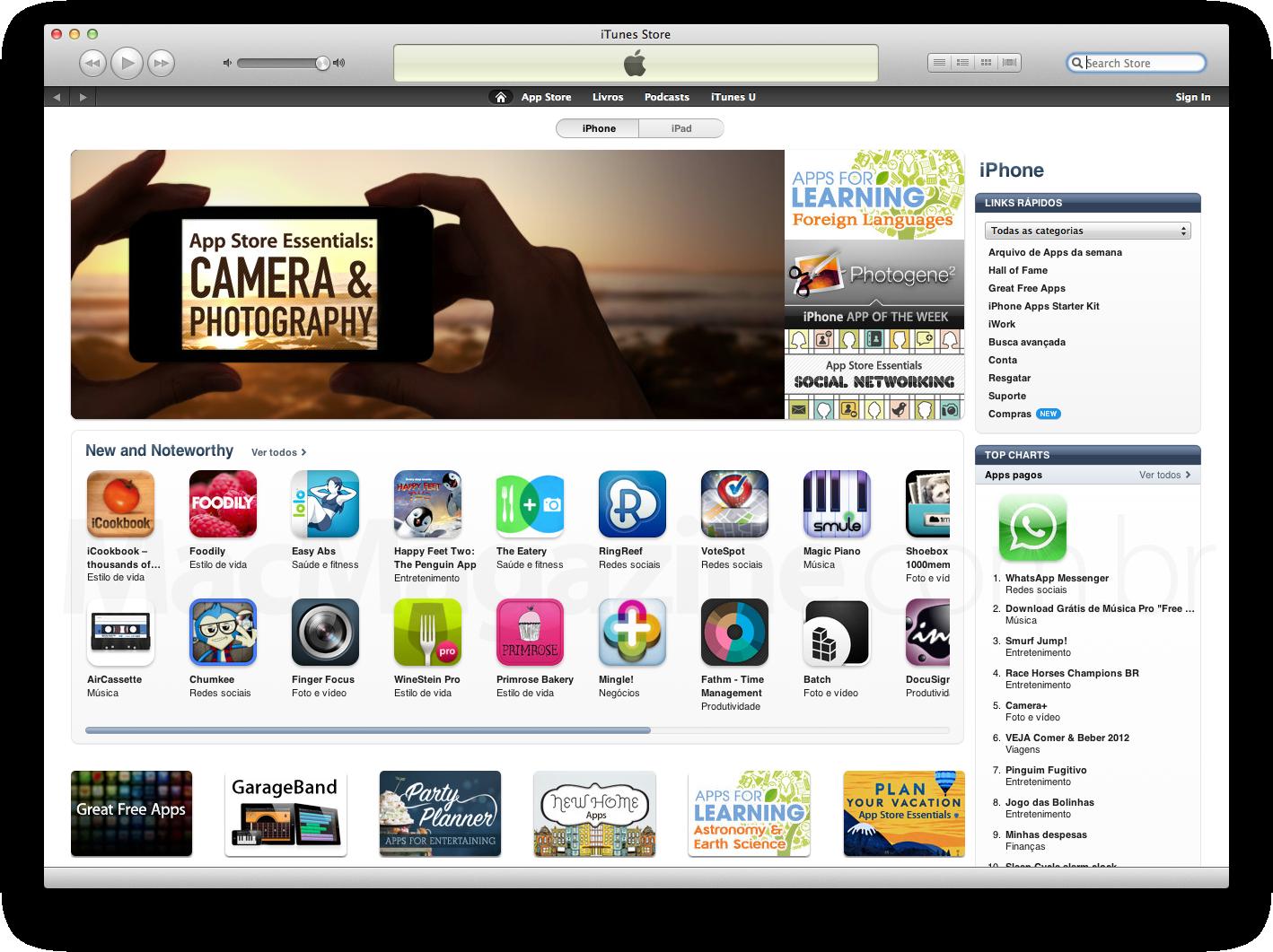 App Store brasileira em português