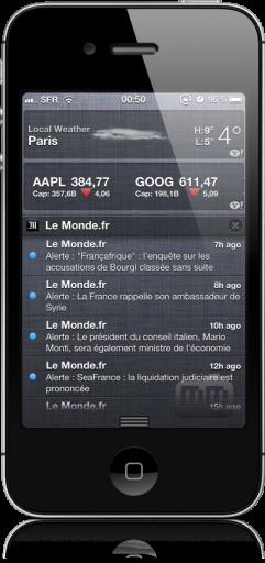 Widget do Tempo na Central de Notificações - iOS 5