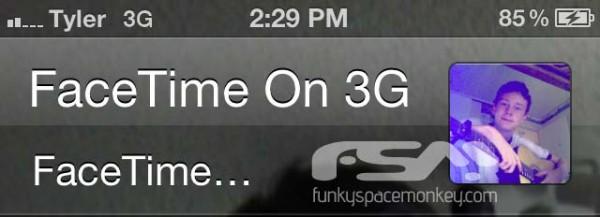 FaceTime via 3G