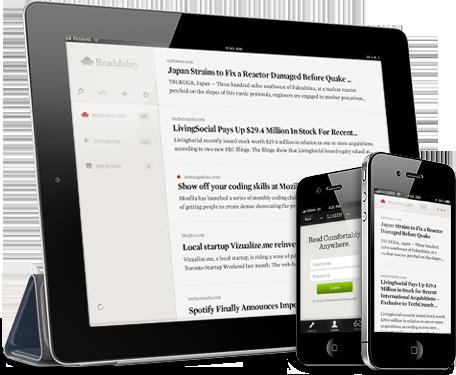 Readability para iOS em iPad e iPhones