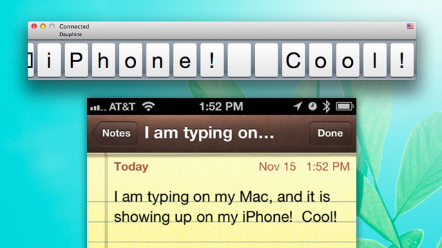 Type2Phone no Mac e no iOS