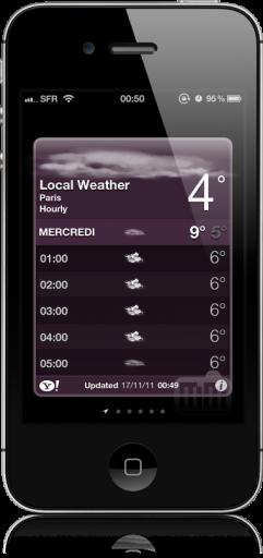 Widget do Tempo - iOS 5