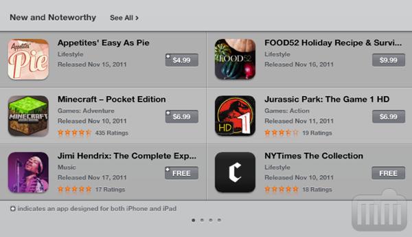 App Store (nova) no iPad