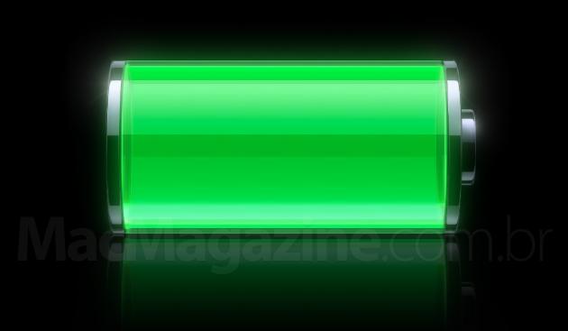 Bateria cheia (verde) no iOS