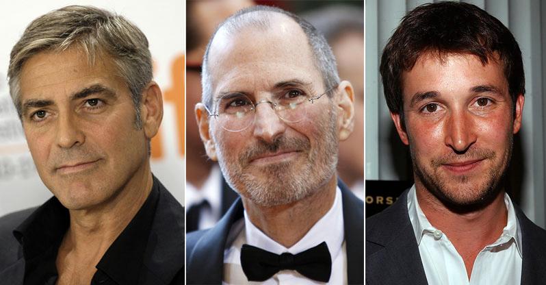 George Clooney e Noah Wyle como Steve Jobs