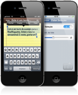 Text-to-speech no iOS 5