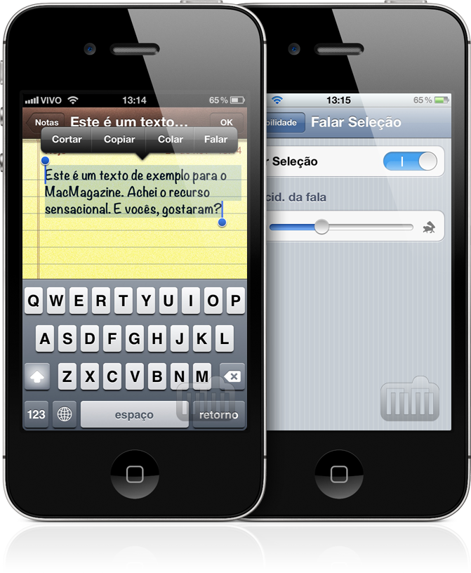 Text-to-speech no iOS 5